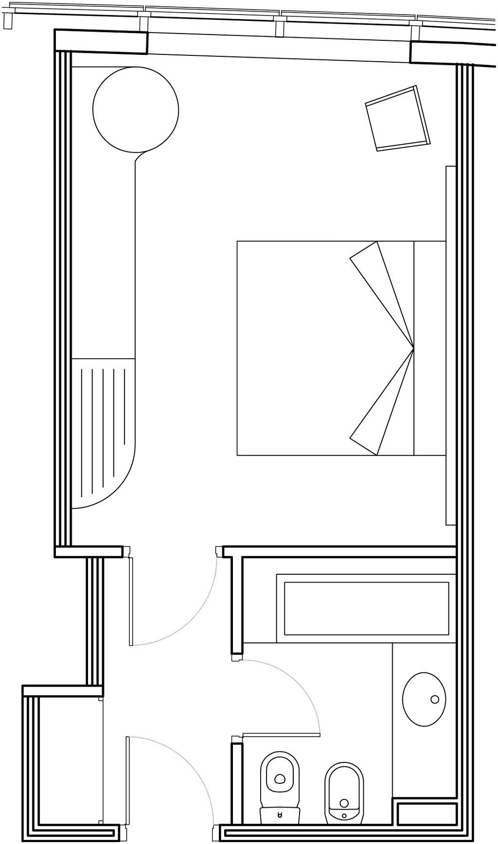 Habitaci n basic hotel carlemany for Plano habitacion online