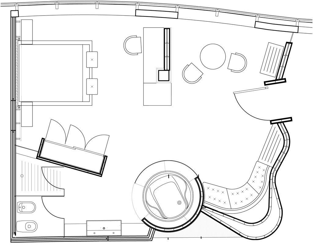 Habitaci n con jacuzzi privado hotel carlemany girona for Diseno de habitacion con bano privado