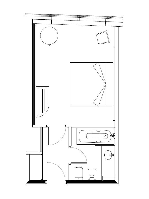Habitaci n doble superior hotel carlemany girona for Plano habitacion online