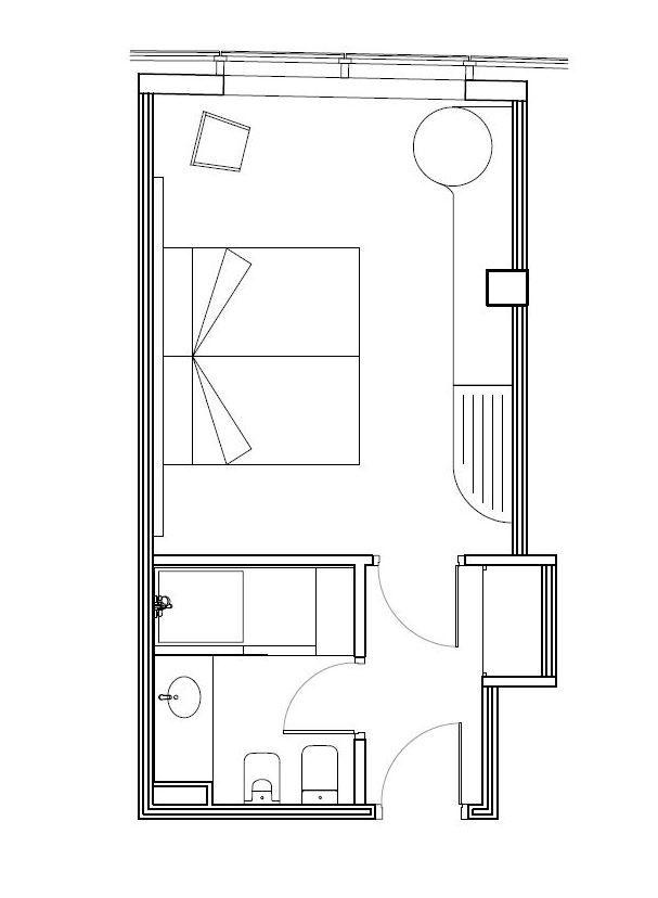 Superior double room hotel carlemany girona for Plano habitacion online
